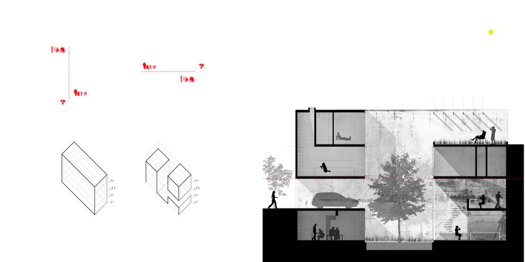 Casa medianero concepto - Metha Arquitectos